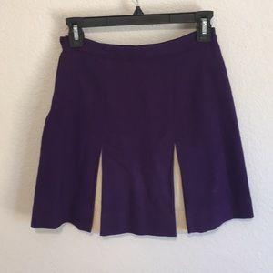 Vintage Wool Cheerleading Pleated Purple Skirt
